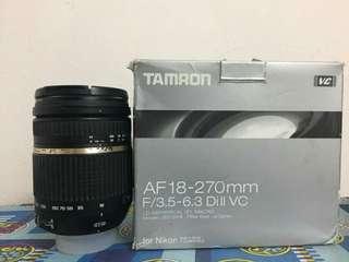 Tamron 18-270mm f3.5-6.3 Nikon Mount