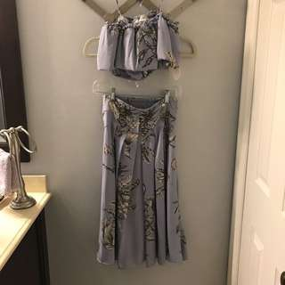 Tularosa top and skirt outfit size x-small