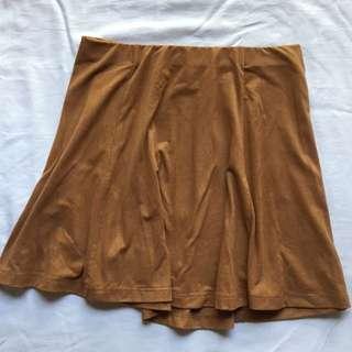 Forever 21 Suede Skater Skirt
