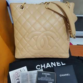 Chanel PST Caviar in GHW