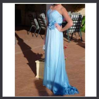 One of a kind silk ball gown