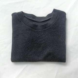 Dark Gray Crop Top