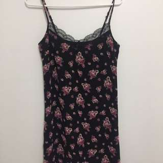 Forever 21 slip dress with lace