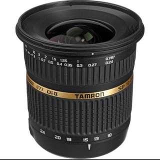 Tamron SP AF 10-24mm f / 3.5-4.5 DI II Zoom Lens For Nikon Mount