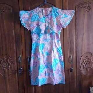 Dress Batik Peach