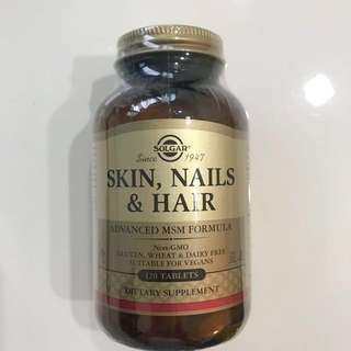BN 120 tabs Skin Nail Hair with Advanced MSM (Tablets Pills Supplements Pills)
