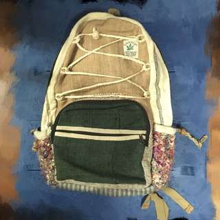 全新 尼泊爾製麻質大背囊 🎒 Made in Nepal Hemp Backpack 背包