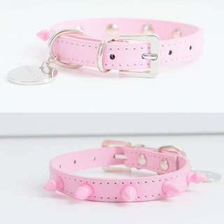 Henley & Co pink studded puppy collar