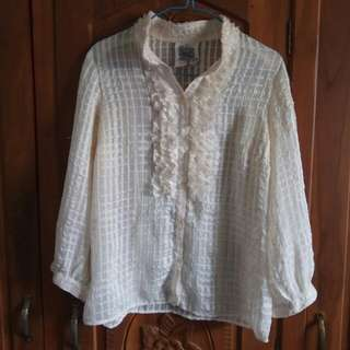 Top Chifon Broken White