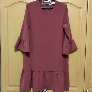 Editor's Market Dress with bell sleeves