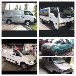 From $40/ day rental Van, Lorry rental Own Use/ Commercial vehicle Economy Cheap Vehicle for long term Rental