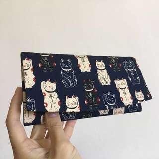 日本購回招財貓 可愛貓咪長夾