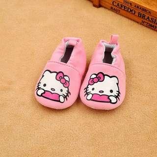 Baby Shoes Anti Slip Hello Kitty Pink
