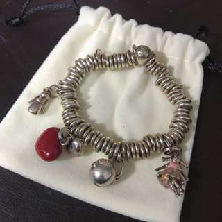 Links of London s925純銀手鏈 配4個charms