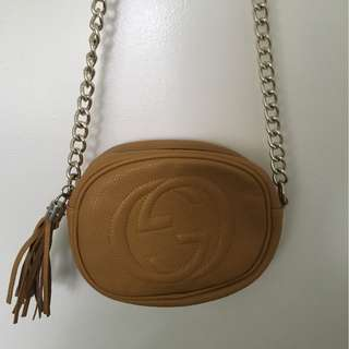 Gucci Tan Soho Bag
