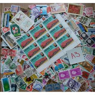 World Mix Stamps 500 pcs lot A3 BL486