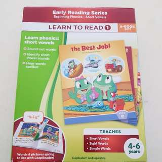 Leapfrog tag reader- Learn to Read (1), 6 Books