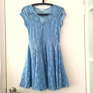 Blue Lace Dress AU8