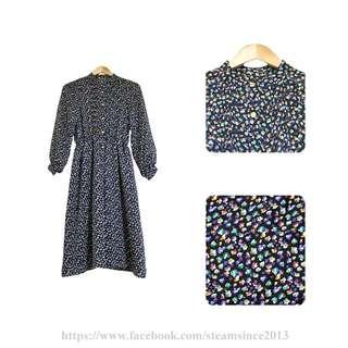 日本製-五彩繽紛古著洋裝