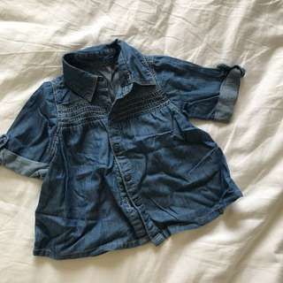 Mothercare baby girl denim top