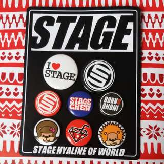 (Show Lo brand) STAGE badges
