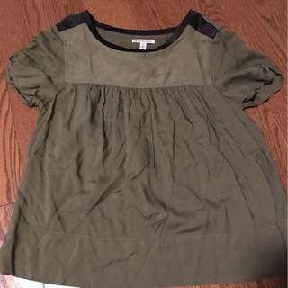 olive American eagle t shirt, size M