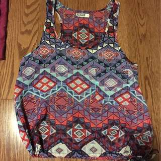 printed tank top from Garage, size small