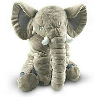 60cm Giant Stuffed Elephant Toy Pillow Cute Soft Plush Cuddly Fabric