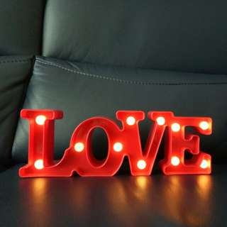 LOVE lighted sign decor