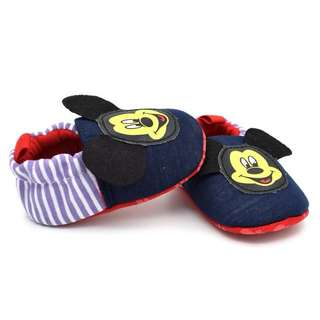Baby Shoes Anti Slip Mickey Mouse Dark Blue