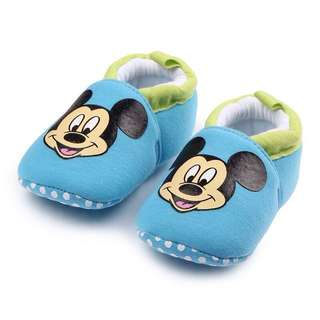 Baby Shoes Mickey Mouse Light Blue