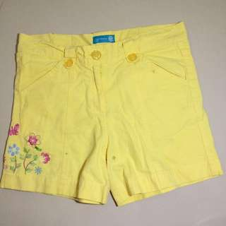 CONTEMPO YELLOW SHORTS