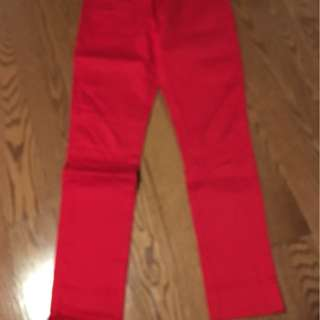 red jeans, never worn