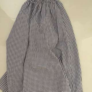 Gingham high waisted skirt