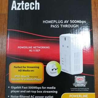 🚚 2 x Homeplug AV 500Mbps Pass Through