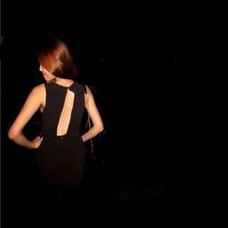 Forever 21 Backless Black Dress