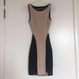 Miss Selfridges Petite Backless Bodycon Dress