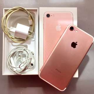 Iphone 7 rose gold with 128GB