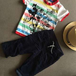 2-piece Disney Tee and pants fully lined Corduroy.