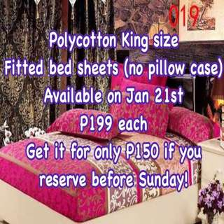 King size bed sheets polycotton