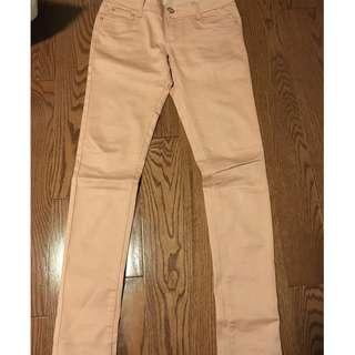 tan/light pink pants