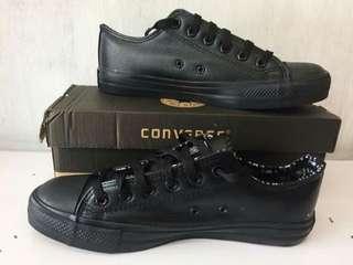 Converse Leather All Black OEM