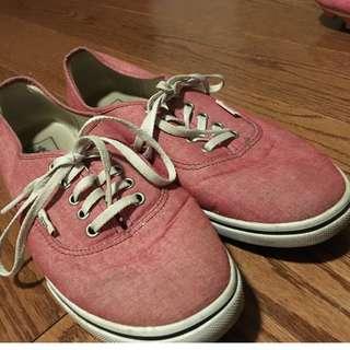 red/pink VANS, size 9