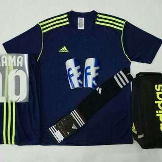 Baju Futsal/Baju Bola (M.L.XL) Satu Set+ Nama & no punggung
