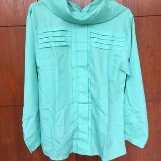 Baju hijau tosca murah blouse atasan