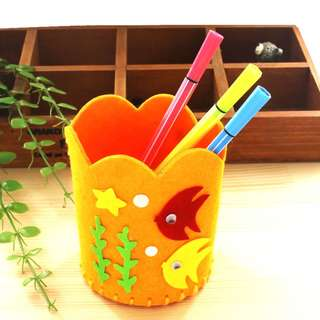 (TO CLEAR) DIY146. Handmade Pencil Holder (Orange)