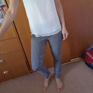 Plaid legging