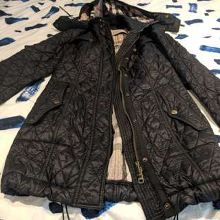 Burberry Detachable hood quilted jacket
