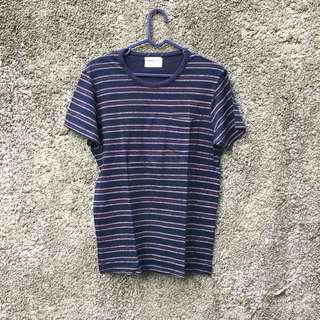 PULL AND BEAR STRIPED POCKET TEE