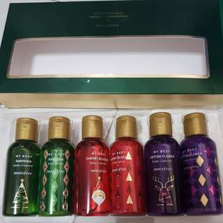 Innisfree limited edition body wash and lotion